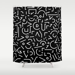 Favorite Shape black Shower Curtain