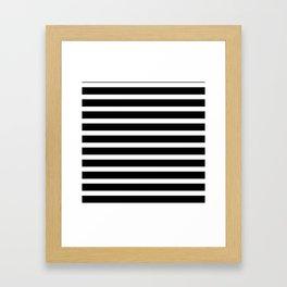 Horizontal black and white stripes Framed Art Print