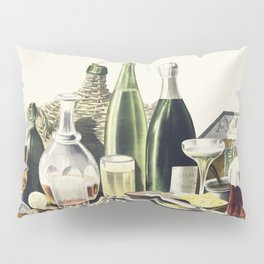 Advertisement The Best Wines Liquors Ales  Lager Beer we are selling Here by LN Rosenthal Pillow Sham