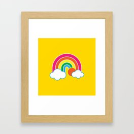 Retro Sunshine & Rainbows Framed Art Print