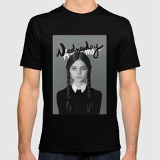 Wednesday Addams Black X-LARGE Mens Fitted Tee