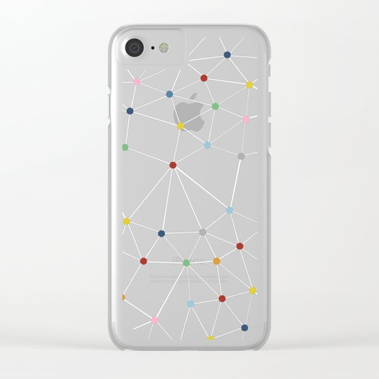 Seg with Color Spots Clear iPhone Case