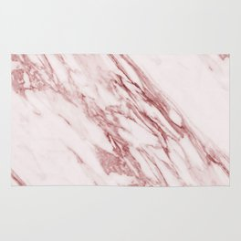 Ripples of Rose and Cream Marble Rug