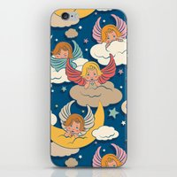 angels iPhone & iPod Skins featuring Angels by Helene Michau