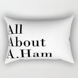 All About A. Ham Rectangular Pillow