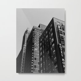GRAYSCALE PHOTO OF MORTONS THE STEAKHOUSE BUILDING Metal Print