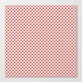 Maple leaf pattern with grey stripes Canvas Print