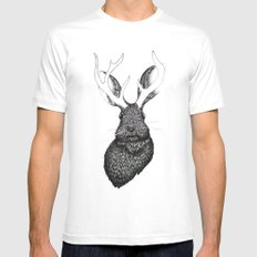 The Jackalope Mens Fitted Tee White MEDIUM