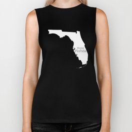Home is Florida - Florida is home Biker Tank