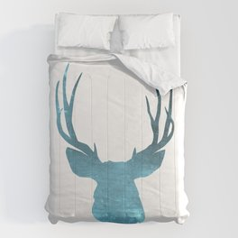 Deer head and stag simple illustration Comforters