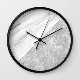 Grey / White Marble Wall Clock