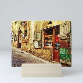 Tuscany, Italy Street Scene Mini Art Print