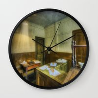 office Wall Clocks featuring Antique Office by Ian Mitchell