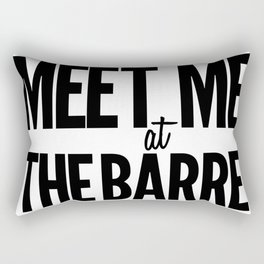 Meet Me At The Barre Rectangular Pillow