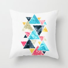 Triscape Throw Pillow
