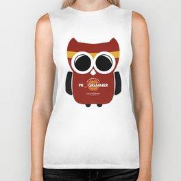 owl programmer Biker Tank