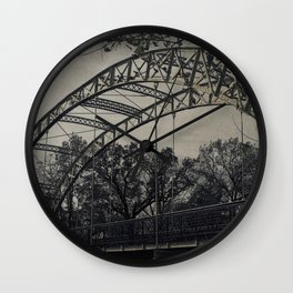 Rustic Steel Bridge Architectural Industrial A173 Wall Clock