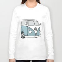 vw Long Sleeve T-shirts featuring VW Camper by 1and9