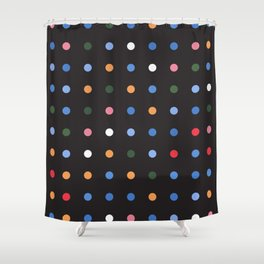 Exist Freely - Black Shower Curtain