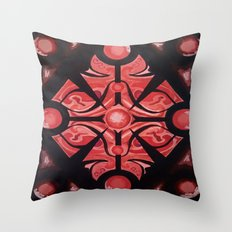 Pattern Red Black Throw Pillow