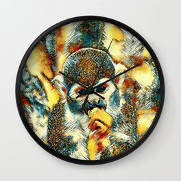 AnimalArt_Monkey_20180204_by_JAMColorsSpecial Wall Clock
