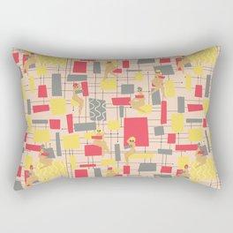 Mid Century Vibe Rectangular Pillow