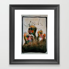 Headed Framed Art Print