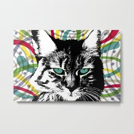 Cat Love Metal Print
