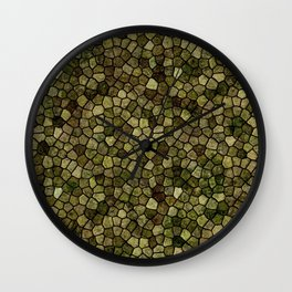 Faux Toad Skin Abstract Pattern Wall Clock