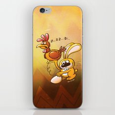 Easter Bunny Stealing an Egg from a Hen iPhone & iPod Skin