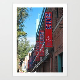 Red Sox - 2013 World Series Champions!  Fenway Park Art Print