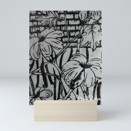 Black and White Palm Flowers by my Mom Mini Art Print