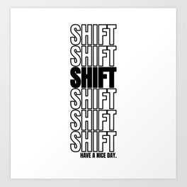 Shift Turn Tuning Car Motorcycle Gift Art Print