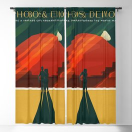 SpaceX Travel Poster: Phobos and Deimos, Moons of Mars Blackout Curtain