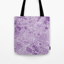 Guadalajara map lilac Tote Bag