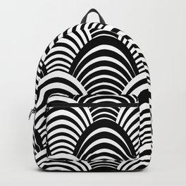 Black and White Art Deco Pattern Backpack