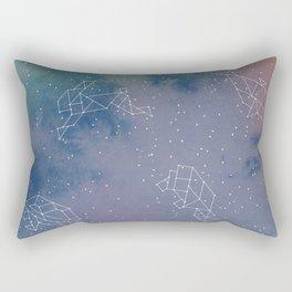 Animals in space Rectangular Pillow