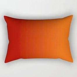 Ombre in Red Orange Rectangular Pillow