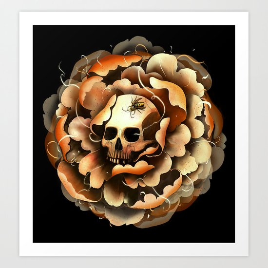 Death Blooms Art Print