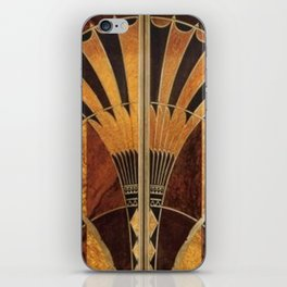 art deco wood iPhone Skin