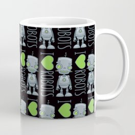 I Love Robots Coffee Mug