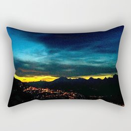 Dusk's Final Breath Rectangular Pillow