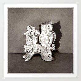 Porcelain Owl Art Print