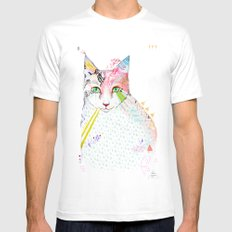 Cat / March Mens Fitted Tee White LARGE