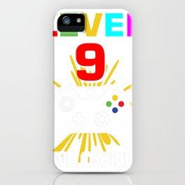 Level 9 Unlocked 9Th Birthday Shirt For Boys Gamer 1999 iPhone Case