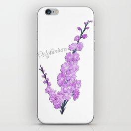 Delphinium Flowers iPhone Skin