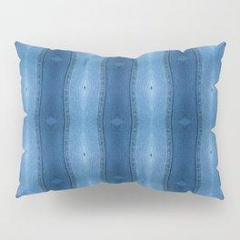 Denim Diamond Waves vertical patten Pillow Sham