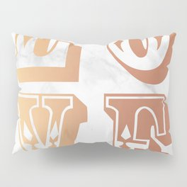 Rose Gold Marble Love Circus Typography Print Pillow Sham