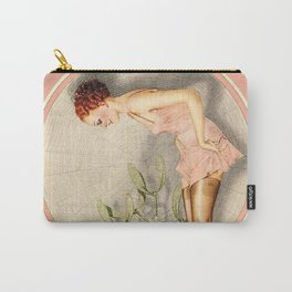 Vintage French Fashion Ad Carry-All Pouch