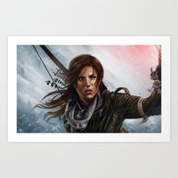 megan lara Art Prints featuring Lara  by Lara Cremon